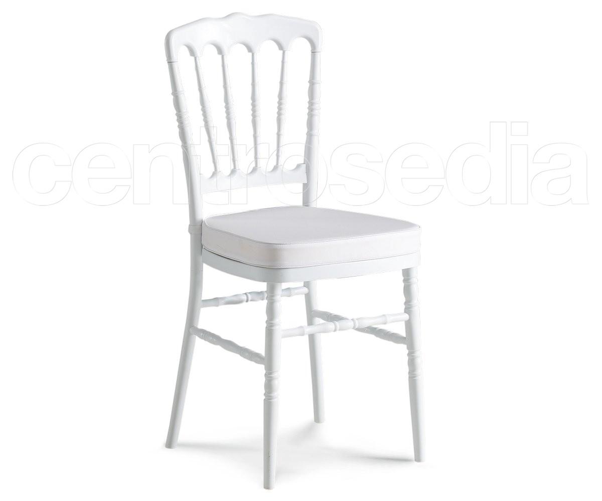 Napoleon sedia polipropilene bianco sedie catering for Coprisedia bianco ikea
