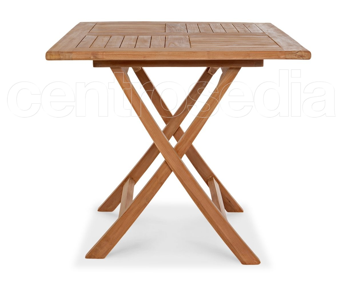 Tavolo Pieghevole Di Legno.Ambon Teak Folding Square Table Tavoli Legno Teak Centrosedia