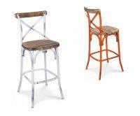 Cross sgabello metallo vintage seduta legno sgabelli vintage e
